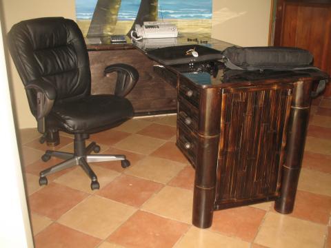 Escritorio rustico bambú - Bamboo Office Furniture