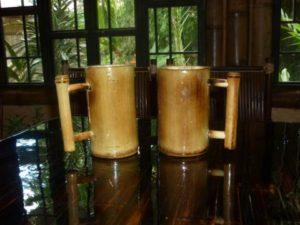 jarras de bambú - bamboo jars