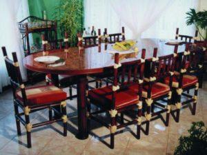 Muebles de comedor de bambú