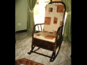 mecedora de arco - rocking chair - bambú