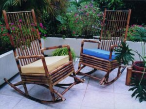 Muebles para terraza y piscina de bambú - Bamboo furniture for terrace and pool