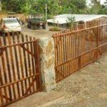 portones y cercas de bambú - bamboo doors and fences
