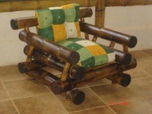 sillón rústico tropical - rustic armchair