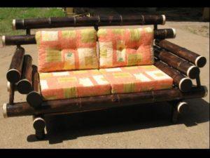sofá doble rústico tropical - rustic double sofa