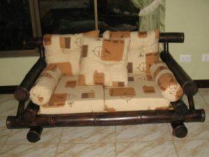 sofá doble rústico - rustic double sofa