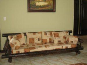 sofá triple rústico tropical - rustic triple sofa