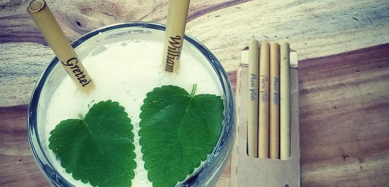 Pajillas de bambú